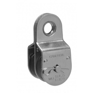 Campbell Chain T7550421 Double Fixed Pulley 1-1/2 Inch For 3/8 Inch Rope Zinc Plated Steel