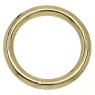 Campbell Chain T7662114 Welded Ring 1-1/8 Inch Inside Diameter Polished Solid Bronze