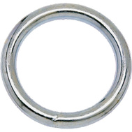Campbell Chain T7665001 Welded Ring 2 Inch Inside Diameter Nickel Plated Steel