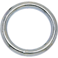 Campbell Chain T7665012 Welded Ring 1 Inch Inside Diameter Nickel Plated Steel