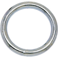 Campbell Chain T7665032 Welded Ring 1-1/4 Inch Inside Diameter Nickel Plated Steel