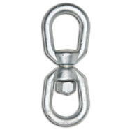 Campbell Chain T9630335 Eye And Eye Swivel 3/16 Inch Galvanized Forged Steel