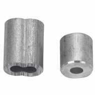 Campbell Chain B7675304 Cable Ferrules 1/16 Inch Aluminum 2 Sleeves And 2 Stops