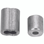 Campbell Chain B7675314 Cable Ferrules 3/32 Inch Aluminum 2 Sleeves And 2 Stops