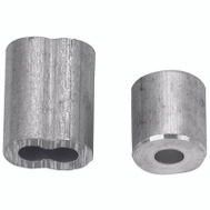 Campbell Chain B7675324 Cable Ferrules 1/8 Inch Aluminum 2 Sleeves And 2 Stops