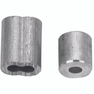 Campbell Chain B7675344 Cable Ferrules 3/16 Inch Aluminum 2 Sleeves And 2 Stops