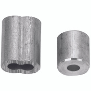 Campbell Chain B7675354 Cable Ferrules 1/2 Inch Aluminum 2 Sleeves And 2 Stops