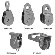 Campbell Chain T7550404 Fixed Eye Pulley 3 Inch For 1/2 Inch Rope Zinc Plated Steel
