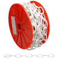 Campbell Chain 0722004 Decorator Chain #10 By 40 Foot White Polycoat Steel