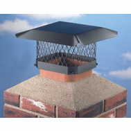 HY-C SC1313 Shelter Chimney Cap Black Steel 13 Inch By 13 Inch