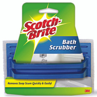 3M 7723 Scotch Brite Bath Scrubber Hand Held Delicate Duty 6 Inch By 3-5/8 Inch By 1 Inch