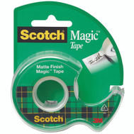 3M 105 Scotch Magic Tape With Plastic Dispenser 3/4 By 300 Inch