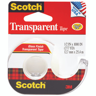 3M 174 Scotch Transparent Tape With Plastic Dispenser 1/2 By 1000 Inch