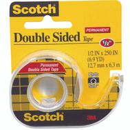 3M 136 Scotch Double Sided Tape Transparent 1/2 By 250 Inch