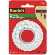 3M 114 Scotch Heavy Duty Double Sided Foam Mounting Tape 1 Inch By 50 Inch
