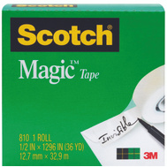 3M 810 Scotch Magic Tape 1 Inch Core 3/4 Inch By 36 Yards