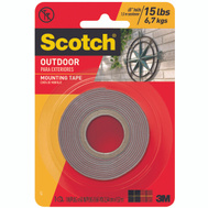 3M 411 Scotch Outdoor Mounting Tape 1 Inch By 60 Inch