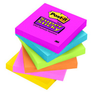 3M 654-SSPK Super Sticky Post-It Notes Assorted Colors