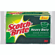 3M HD-3 Scotch Brite Heavy Duty Scrub Sponge 3 Pack