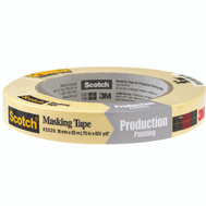3M 2020-18AP Scotch Masking Tape For Production Painting 3/4 Inch By 60 Yards