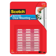 3M 859 Scotch Mounting Tape Squares Clear 11/16 By 11/16 Inch