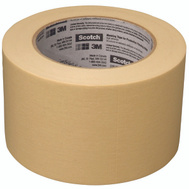 3M 2020-72A-BK Scotch Masking Tape For Production Painting 3 Inch By 60 Yards