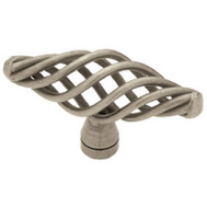 Brainerd P0528AV-AP-C7 / 69193 Iron Forge And Rustic Birdcage Oval Cabinet Knob Antique Pewter