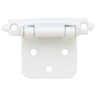 Brainerd H0103AV-W-O2 / 69204 White Self Closing Overlay Hinge Pack Of 2