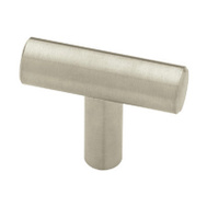 Brainerd P02140-SS-C 1-5/8 Inch Flat End Bar Cabinet Knob Stainless Steel