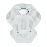Brainerd PN0238V-CL-C5 1- 1/8 Inch CLR Glass Knob