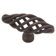 Brainerd P0528A-VBR-C Iron Forge Rustic Birdcage Large Oval Cabinet Knob Bronze With Copper Highlights