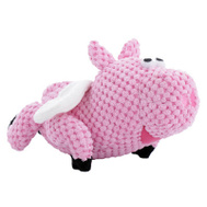 Worldwise Q770104 Small Pink Fly Pig Dog Toy