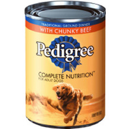 Pedigree 10148415 13.2 Ounce 3 Flavor Dog Food