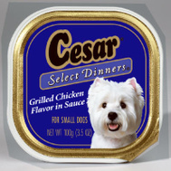 Cesar 10179859 3-1/2 Ounce Cesar Chicken Food