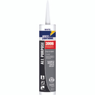 White Lightning WL30060 10 Ounce Interior Exterior Super White Adhesive Caulk