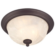 Westinghouse 62309 Outdoor Indoor Ceiling Fixture 2 Light Bronze