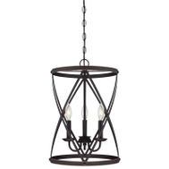 Westinghouse 63037 Chandelier Orb W/Hghlights 3lt