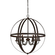 Westinghouse 63282 Chandelier Orb W/Hghlights 6Lt
