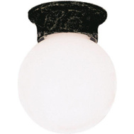 Westinghouse 66840 6 Inch Black Porch Light