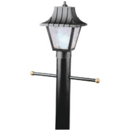 Westinghouse 66875 8 Inch Black Post Top Lantern