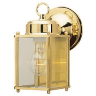 Westinghouse 66936 1 Light Wall Lantern Polished Solid Brass Clear Glass Panels