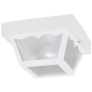 Westinghouse 66975 1 Light Hi Impact Polypropylene Porch Light White Finish Clear Textured Glass
