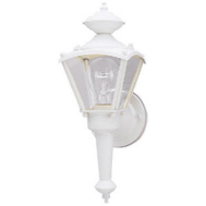 Westinghouse 66984 1 Light Coach Lantern White Finish On Steel Clear Glass Panels