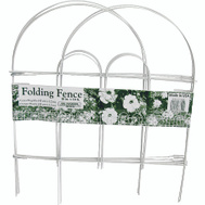 Glamos Wire 777009 18 By 10 Inch Folding Wire Fence White