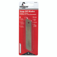 Accutec Blades 66-0372 Utility Knife Blades Snap Off Heavy Duty 18 Mm Blades 8 Point 5 Pack