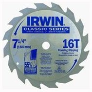 Irwin 25030ZR Classic 7-1/4 Inch 16 Tooth Carbide Steel Blade