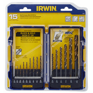 Irwin 318015 Bit Drill Set Turbo Point 15Pc
