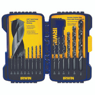 Irwin 314015 15 Piece Black Oxide Drill Bit Set 5/64 To 3/8 Inch