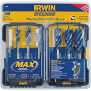 Irwin 3041006 Speedbor MAX 6 Piece Set Tri-Flute Speed Bits 1/2 To 1-1/4 Inch