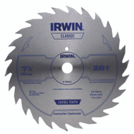 Irwin 11040 7-1/4 Inch 26 Tooth Steel Combination Circular Saw Blade